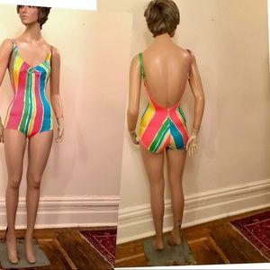 Bali's Pop 80's vivid colors one piece swimsuit